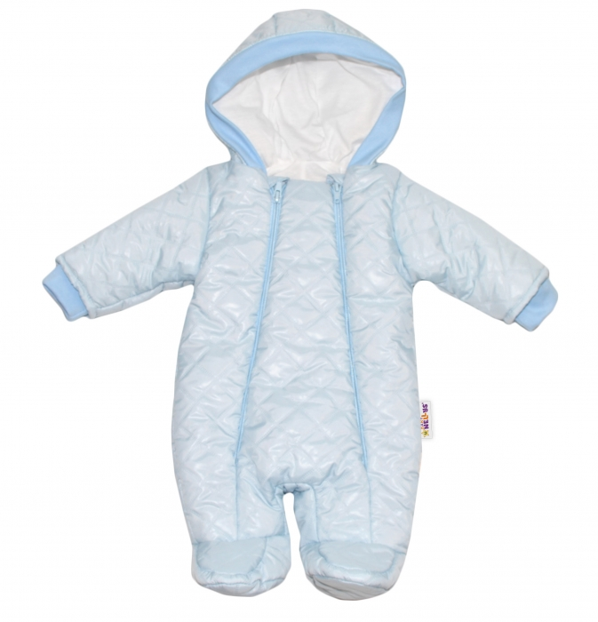 54e37c150 Kombinézka s kapucňu Lux Baby Nellys ®prošívaná - sv. modrá - Nellys.sk