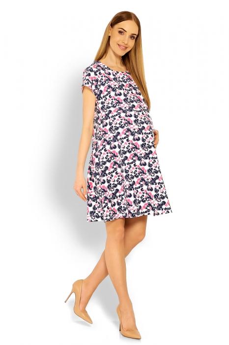b277741407a6 Be MaaMaa Elegantné voľné tehotenské šaty