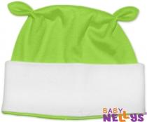 Čiapočka Baby Nellys uškami - zelená