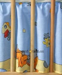 Krásny volánik pod matrac - Myšky modré