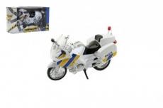 Teddies Motorka Záchranári 112 polícia plast 12cm v krabičke český design.