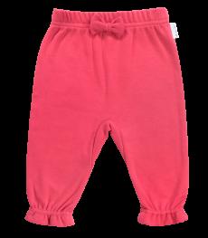 Mamatti Bavlnené tepláčky s mašličkou Love Girl, červené, vel. 92