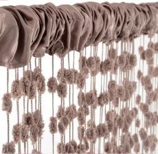 Detská záclona nielen do izbičky Baby Ball, 150x240 cm, mocca - 1ks