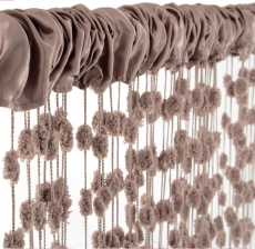 Detská záclona nielen do izbičky Baby Ball, 250x240 cm, mocca - 1ks