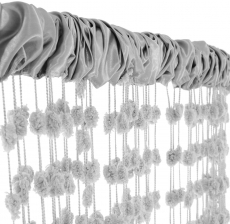 Dětská záclona nielen do izbičky Baby Ball, 250x240 cm, sv. šedá - 1ks