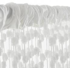 Dětská záclona nielen do izbičky Baby Ball, 150x240 cm, biela - 1ks