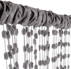 Detská záclona nielen do izbičky Baby Ball, 150x240 cm, tm. šedá - 1ks