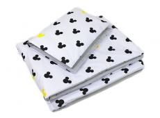 Baby Nellys 2-dielne obliečky 135x100, Mickey, bavlnené - sivá, žltá