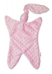 Baby Nellys  Přítulníček / mazlík, Minky - růžový