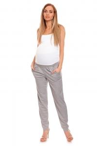 Be MaaMaa Tehotenské nohavice s pružným, vyskokým pásom - sivé