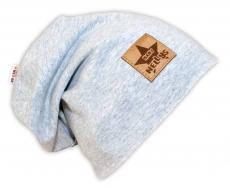 Bavlnená čiapočka Baby Nellys ® - sivý melír