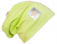 Bavlnená čiapočka Baby Nellys ® - limetka, veľ. 48 - 52 cm