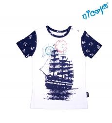 Detské bavlnené tričko Nicol, Sailor - krátky rukáv , vel. 128