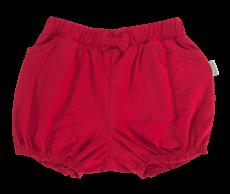 Detské bavlnené nohavičky, kraťasky s mašľu Mamatti Love Girl - červené, veľ. 104