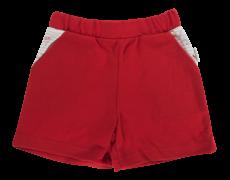 Dojčenské bavlnené nohavičky, kraťasky Mamatti Pirát - červené