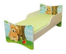Detská posteľ so zábranou Macko - 160x90 cm
