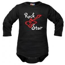 Body dlhý rukáv Dejna Rock Star - čierne, veľ. 68