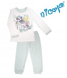 Detské pyžamo Nicol dl. rukáv, Morská víla - bielo/matové, veľ. 116