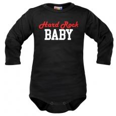 Body dlhý rukáv Dejna Hard rock Baby - čierne, veľ. 86