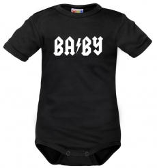 Body krátký rukáv Dejna Baby - čierne, veľ. 68