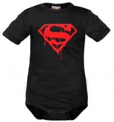 Body krátký rukáv Dejna Super Baby - čierne, veľ. 86