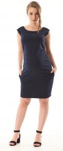 Gregx Elegantné tehotenské šaty bez rukávov - granátové, veľ. XXXL