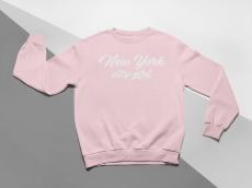 KIDSBEE Moderná detská dievčenská mikina New York City Girl - ružová, veľ. 140