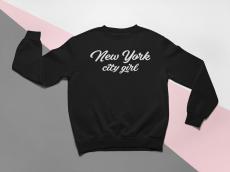 KIDSBEE Moderná detská dievčenská mikina New York City Girl - čierna, veľ. 134