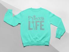KIDSBEE Moderná detská dievčenská mikina Princess Life - matová, veľ. 104