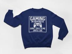 KIDSBEE Štýlová chlapčenská tepláková mikina Gaming - granátová, veľ. 110