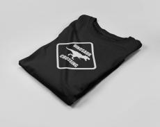 KIDSBEE Chlapčenské bavlnené tričko Dinosaurus - čierne