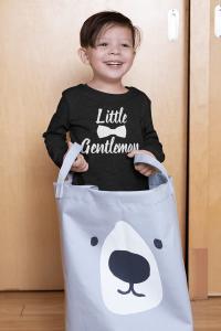 KIDSBEE Chlapčenské bavlnené tričko Little Gentleman - čierne, veľ. 134