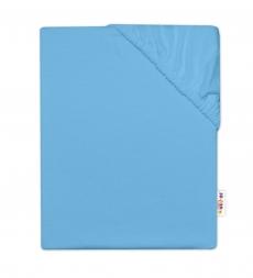 Baby Nellys Detská jersey plachta do postieľky - modrá, 140 x 70 cm