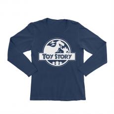 KIDSBEE Dievčenské bavlnené tričko Toy Story - granátové, veľ. 122