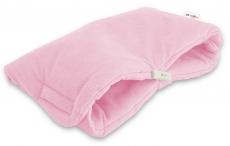 Luxusný rukávnik Velvet Baby Nellys, 40 x 20cm - sv. růžová