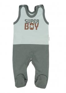 Mamatti Dojčenské dupačky Super Boy, zelená - mätová, veľ. 56
