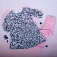 K-Baby 2 dielna sada - šaty + legíny, Gepardík, veľ. 92