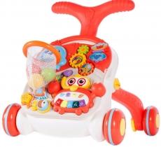 Tulimi Detské interaktívne chodítko a stolček Walker 2v1 - s príslušenstvom, farebné