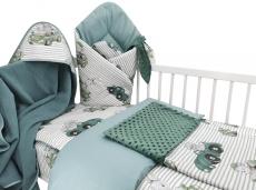 Baby Nellys 6-dielna výhod. súprava pre bábätko s darčekom,135 x 100, Baby Car, zelená