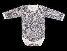 Mamatti Dojčenské body dl. rukáv, Gepardík, biele vzorované, veľ. 98