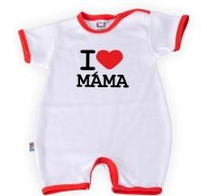 DEJNA Body Kr. rukáv s nohavičkama I Love Mama, vel´. 74, K19
