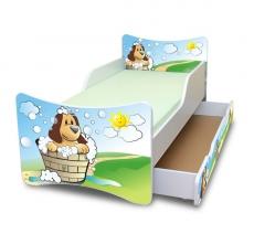 NELLYS Detská posteľ so zábranou a šuplík/y Hafík
