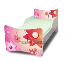 Detská posteľ so zábranou Kvetinky