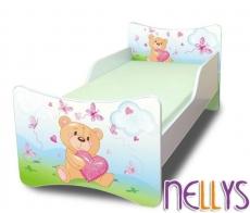Detská posteľ so zábranou Míša Srdce New - 200x90 cm