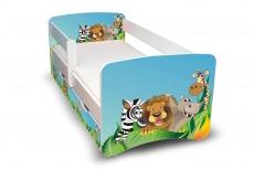 Detská posteľ s bariérky a zásuvkou Filip - Zoo II