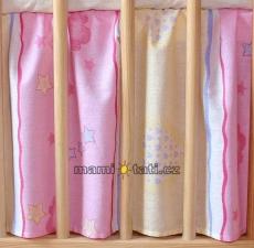 Mamo Tato Krásny volánik pod matrac - Macko ružový