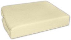 Baby Nellys Froté plachta 140x70cm - krém, žltá