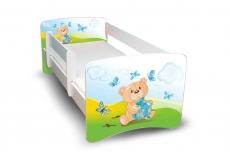 Detská posteľ s bariérky Filip - Medvedík s darčekom II., 180x90 cm