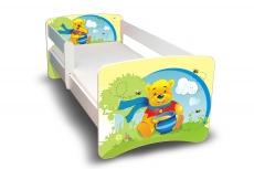 NELLYS Detská posteľ s bariérky Filip - Medvedík s medom II., 180x90 cm