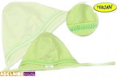 TERJAN Novorodenecká čiapočka na zaväzovanie - sv. zelená